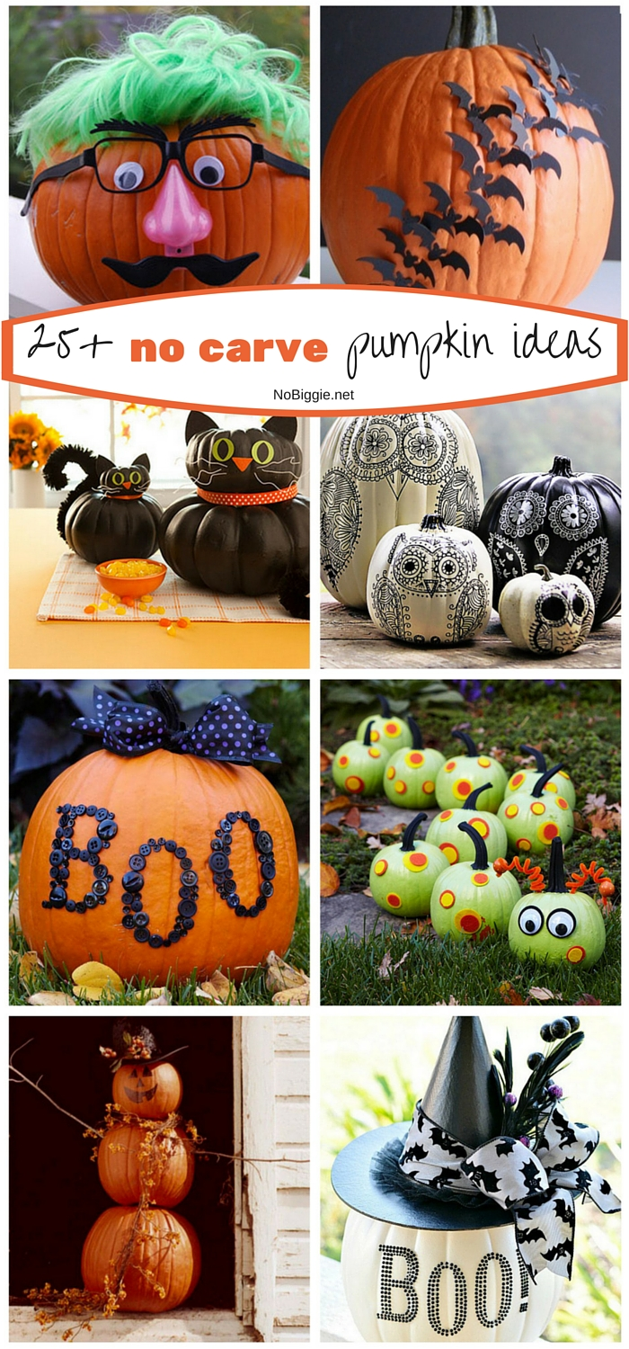 25+ no carve pumpkin ideas | NoBiggie.net