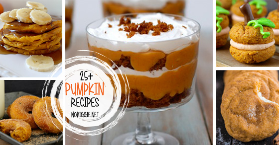 25+ Pumpkin Recipes | NoBiggie.net