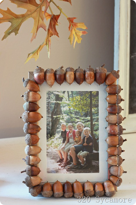 Acorn Picture Frame   25+ Thrifty Fall Decor Ideas