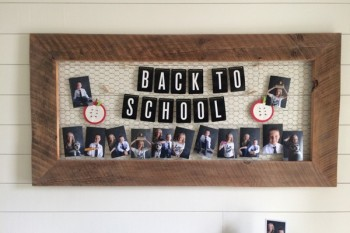 Back To School photo display and banner