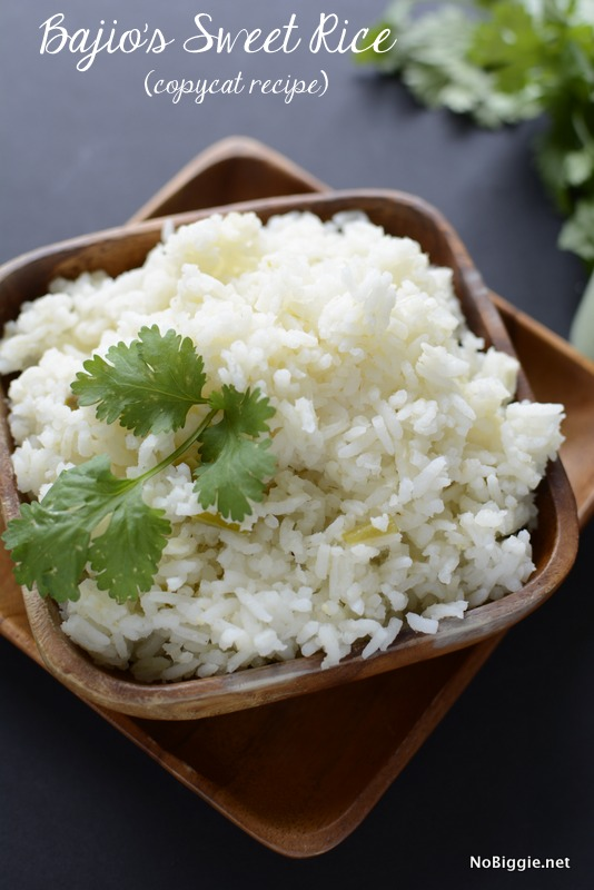 Bajio's sweet rice recipe | NoBiggie.net