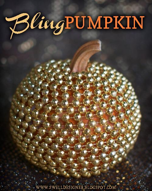 Bling Pumpkin   25+ Thrifty Fall Decor Ideas