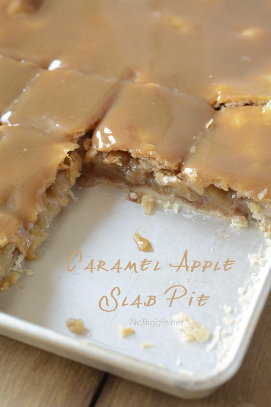 Caramel Apple Slab Pie- yum! this recipe is amazing! | NoBiggie.net