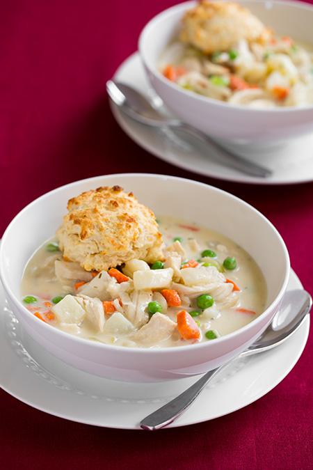 Chicken pot pie soup and parmesan drop biscuits | 25+ delicious soup recipes