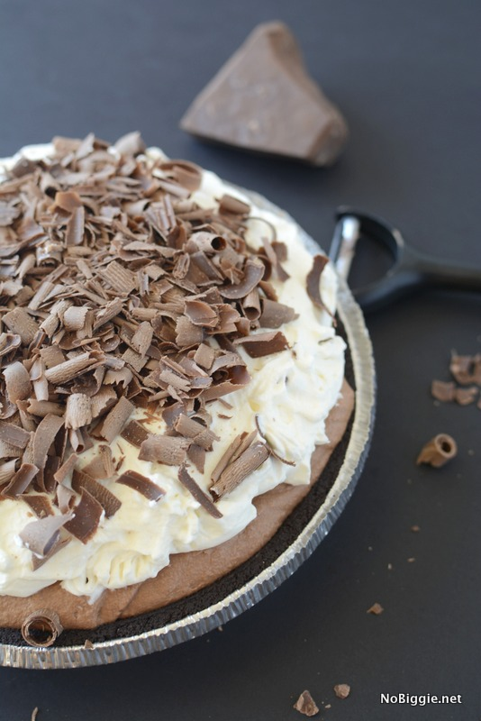 Chocolate Truffle Pie - this pie is amazing! | get the recipe on NoBiggie.net