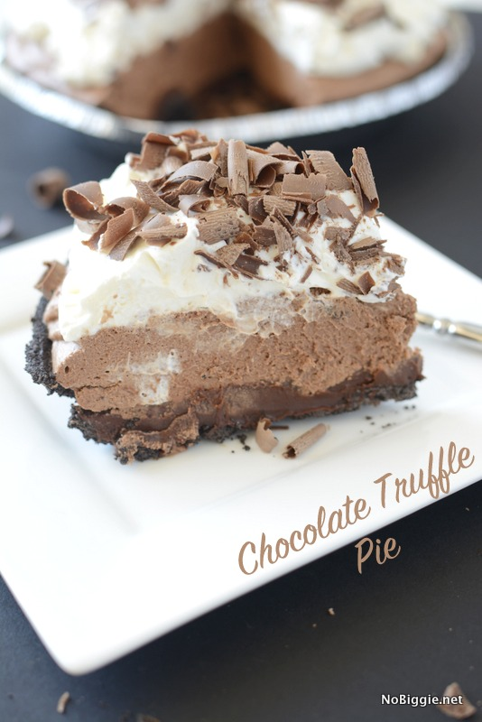 Chocolate Truffle Pie - this pie is so good! | recipe on NoBiggie.net