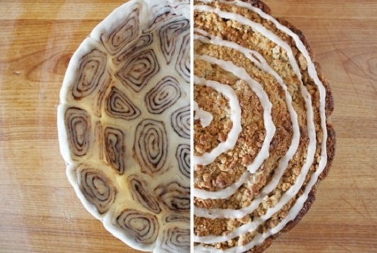 Cinnamon Roll Crust Apple Pie | 25+ apple recipes