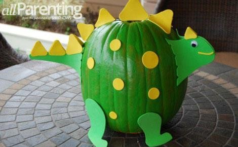 Dinosaur pumpkin | 25+ no-carve pumpkin ideas