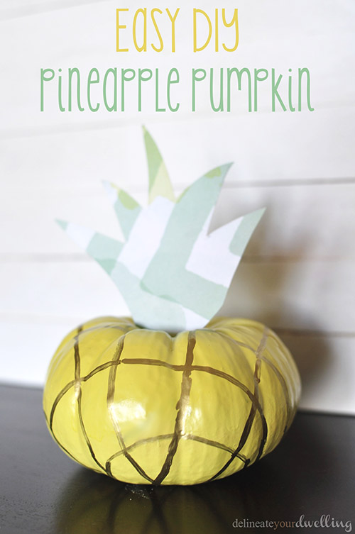 Easy DIY Pineapple Pumpkin | 25+ no-carve pumpkin ideas