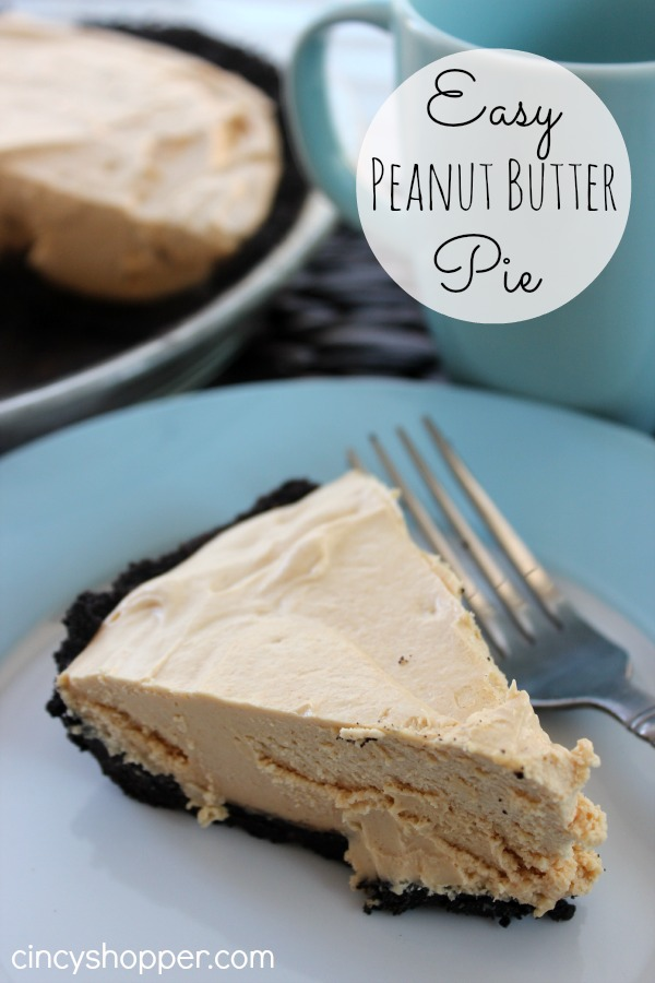 Easy Peanut Butter Pie | 25+ peanut butter and chocolate desserts