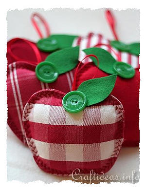 Fabric apples - 25+apple projects and kids crafts - NoBiggie.net