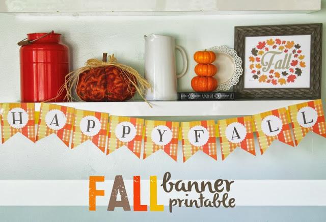 Fall Banner Printable   25+ Thrifty Fall Decor Ideas