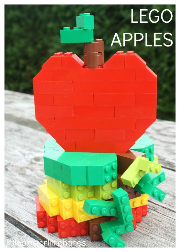 Lego Apples - 25+apple projects and kids crafts - NoBiggie.net