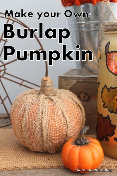 Make Your Own Burlap Pumpkin   25+ Thrifty Fall Decor Ideas