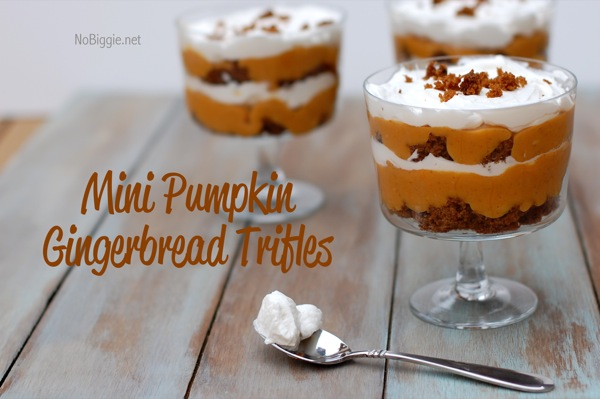 Mini Pumpkin Gingerbread Trifles | 25+ Pumpkin Recipes