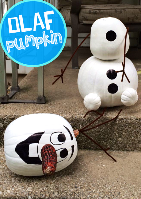 No carve frozen Olaf pumpkin | 25+ No-carve pumpkin ideas