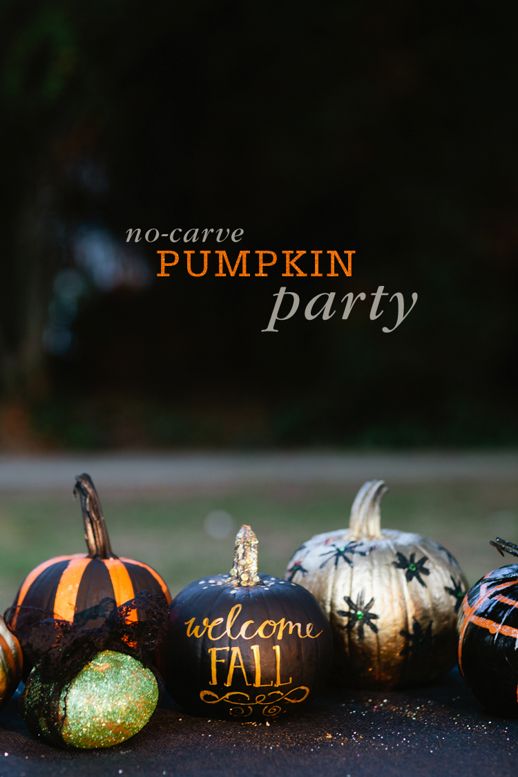 No carve pumpkin decorating party | 25+ no-carve pumpkin ideas