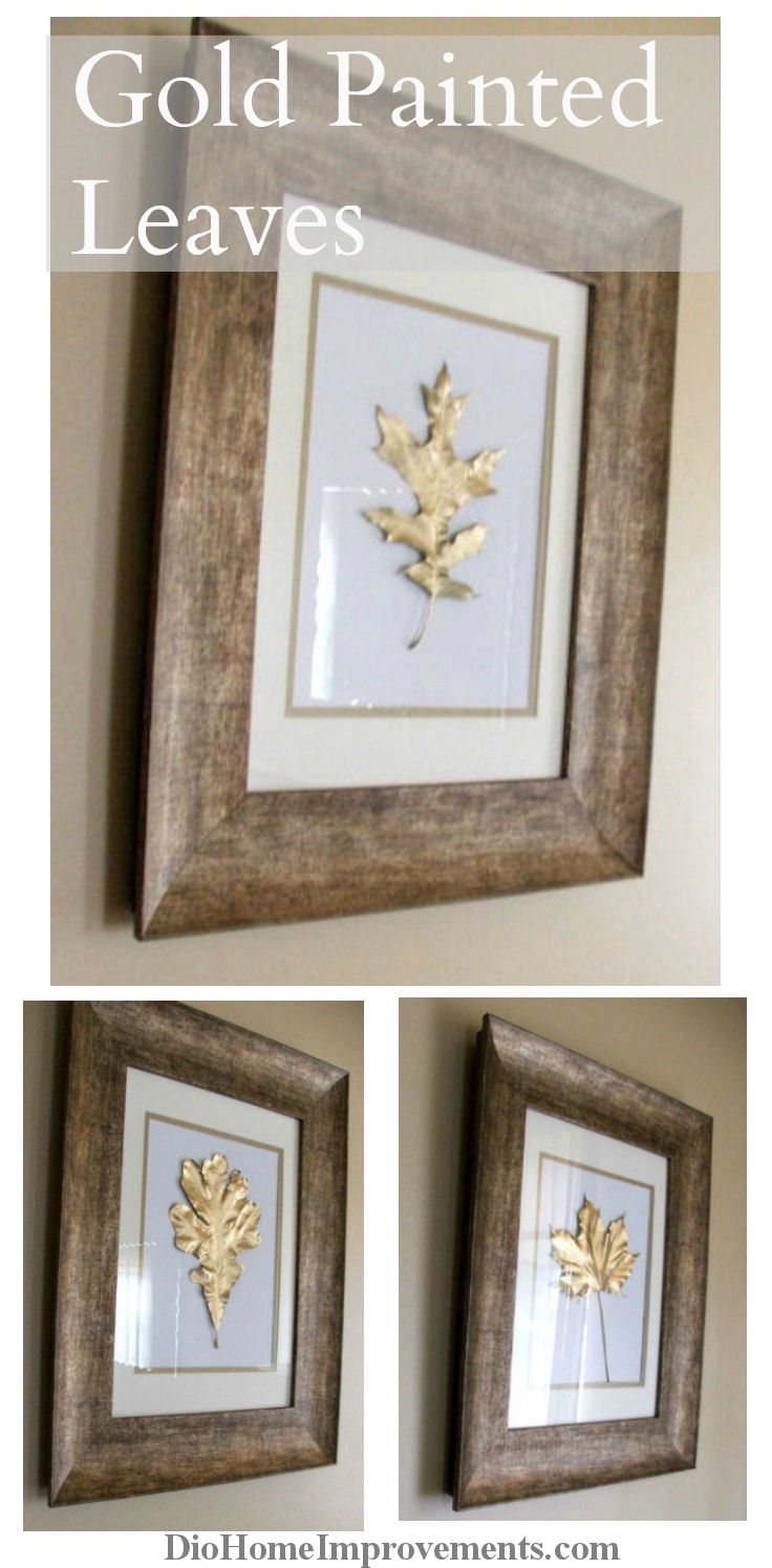 Painted Gold Leaves   25+ Thrifty Fall Decor Ideas