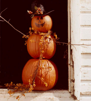 Pumpkin man | 25+ no-carve pumpkin ideas