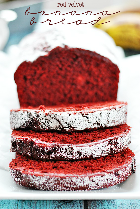 Red Velvet Banana Bread | 25+ Quick Bread Recipes (No Yeast Required)