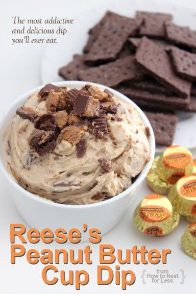 Reese's Peanut Butter Cup Dip | 25+ peanut butter and chocolate desserts