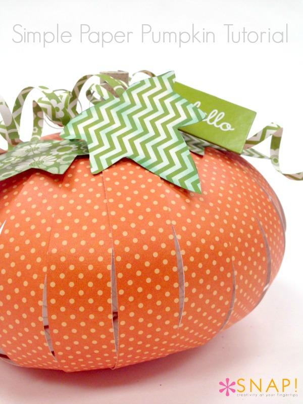 Simple Paper Pumpkin Tutorial   25+ Thrifty Fall Decor Ideas