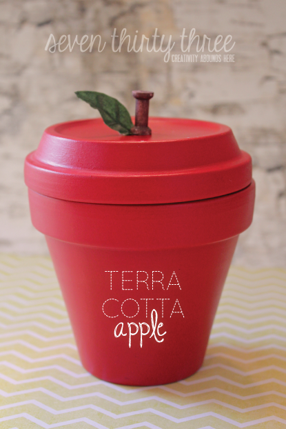 Terra Cotta apple - 25+apple projects and kids crafts - NoBiggie.net