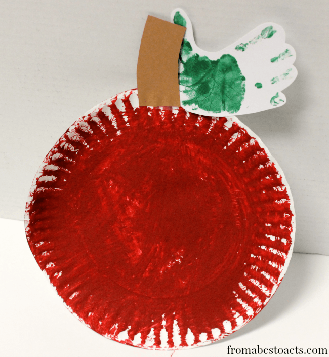 Textured apple craft for preschoolers - 25+apple projects and kids crafts - NoBiggie.net