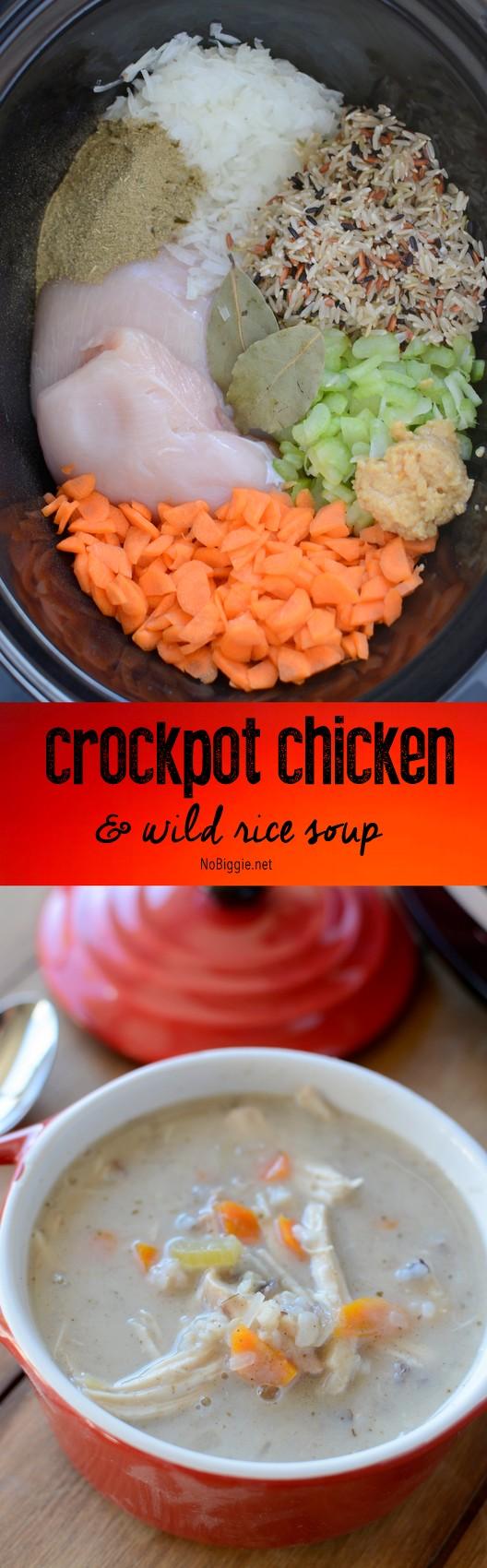 creamy crockpot chicken and wild rice soup | NoBiggie.net