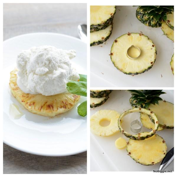 grilled pineapple with vanilla icecream | NoBiggie.net
