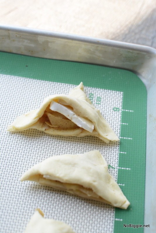 mini apple brie turnovers - the perfect appetizer | get the recipe on NoBiggie.net