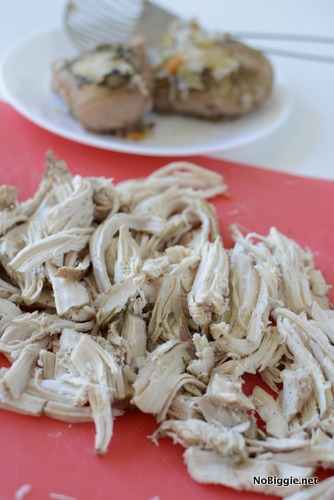 shredded chicken and wild rice soup | NoBiggie.net