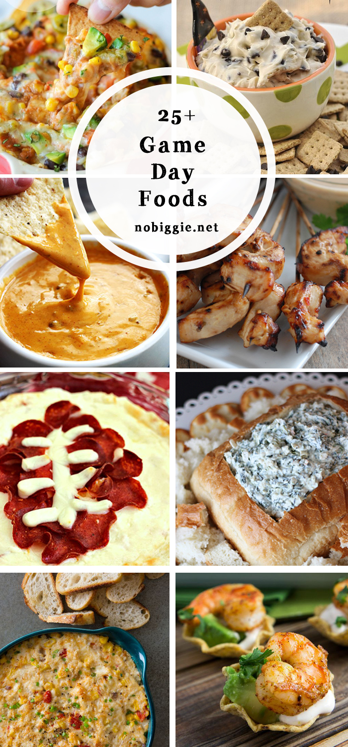 25+ game day food ideas | NoBiggie.net