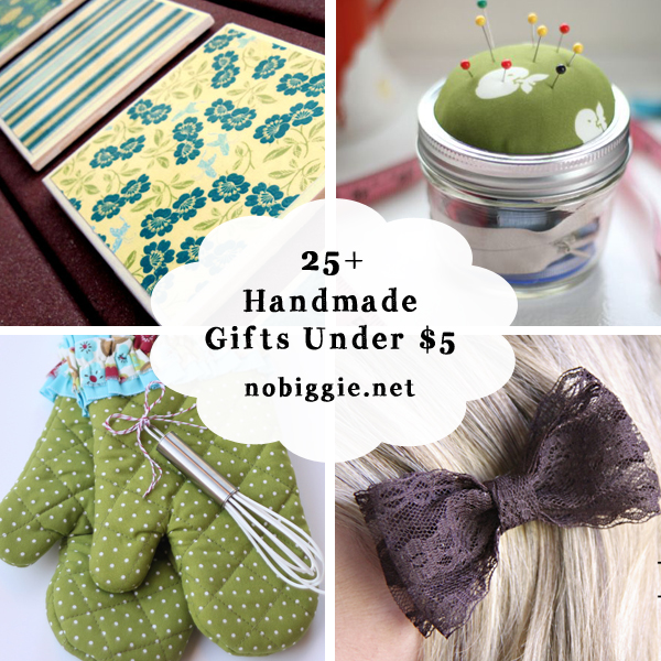 25 handmade gifts under five dollars | NoBiggie.net