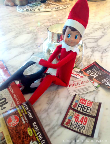 Coupon clipper | 25+ elf on the shelf ideas