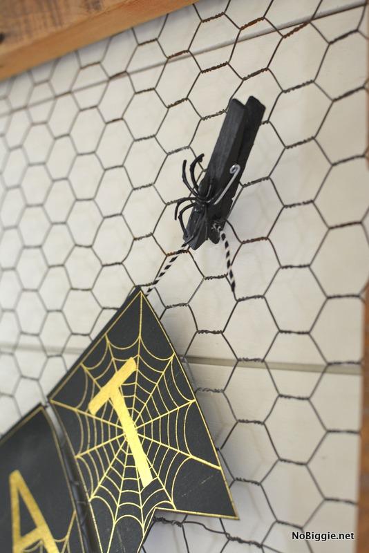 DIY spiderweb banner | NoBiggie.net