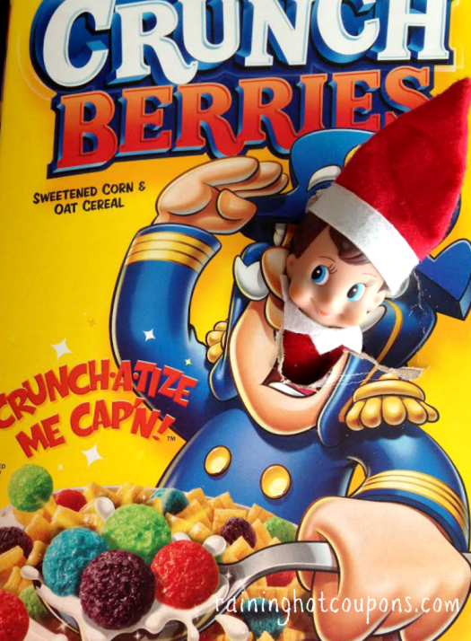 Captain Crunch | 25+ elf on the shelf ideas