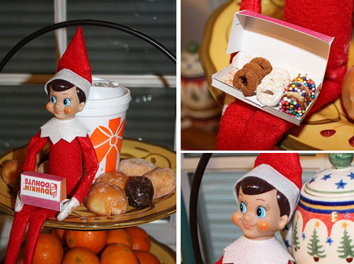 Mini Elf donuts | 25+ elf on the shelf ideas