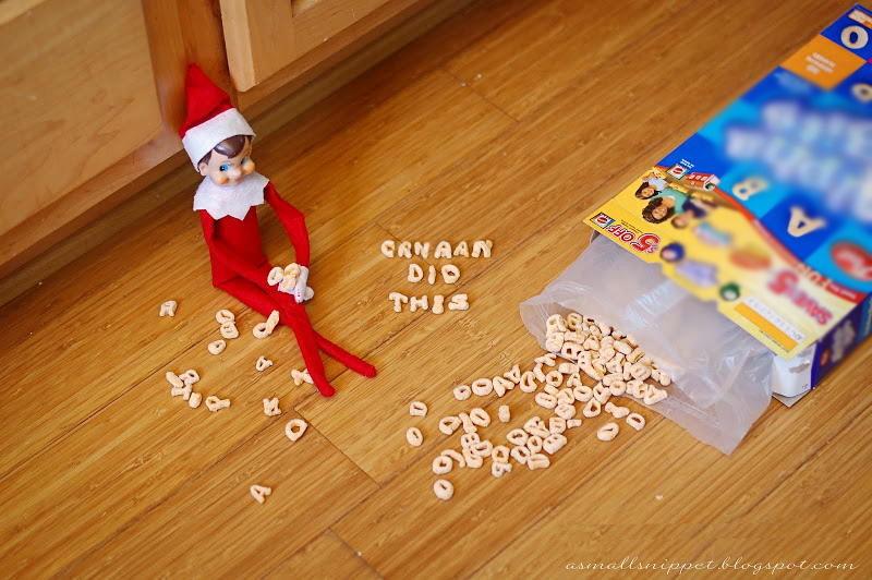 Messy Eater | 25+ elf on the shelf ideas
