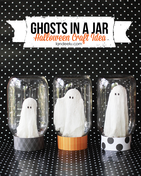 Ghost in a jar Halloween craft | 25+ Halloween party decor ideas