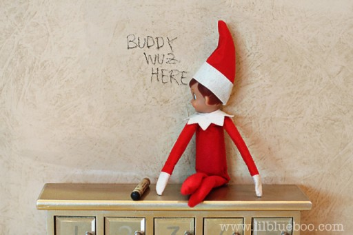Graffiti | 25+ elf on the shelf ideas