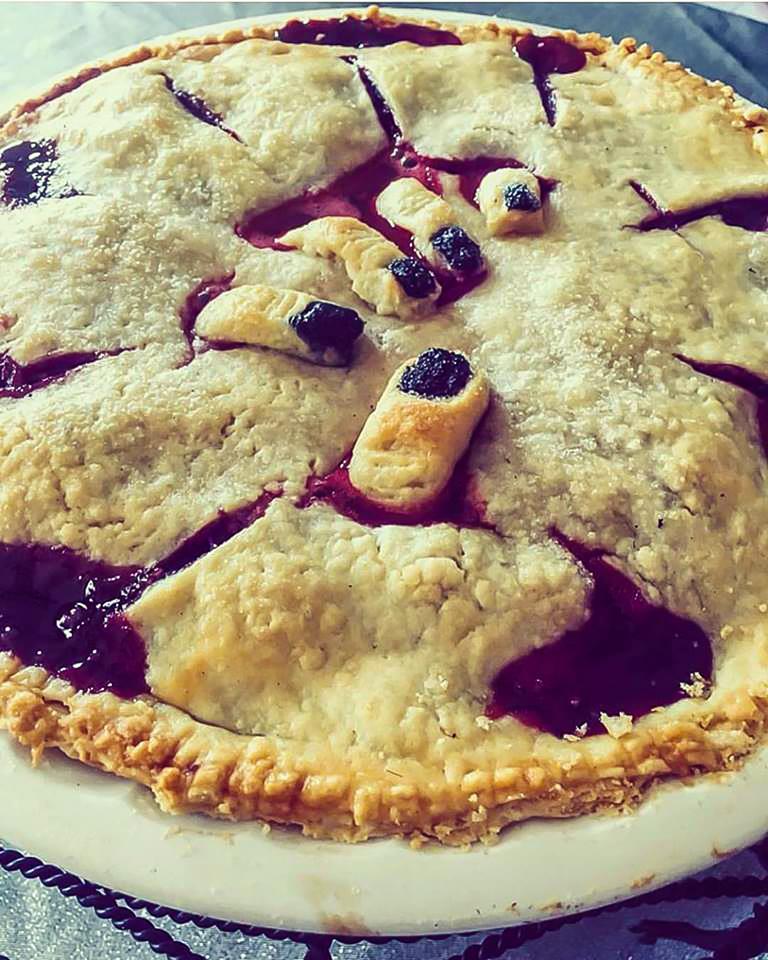 Halloween Berry Pie
