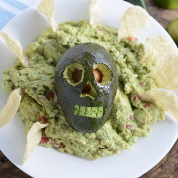 Holy Skull-y Guacamole - Halloween Guac recipe   NoBiggie.net