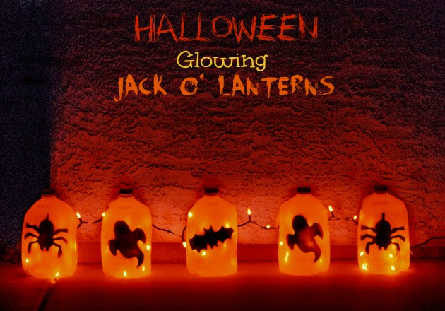 Halloween glowing jack o' lanterns | 25+ Halloween party decor ideas