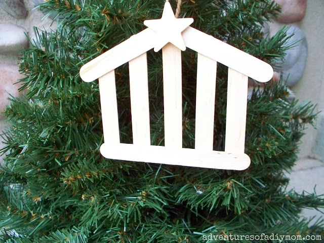 Large Stable Ornament | 25+ ornaments kids can make