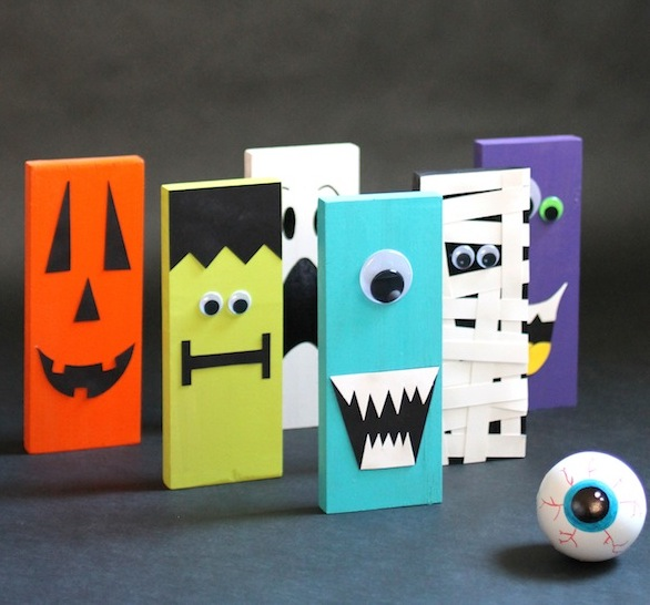 Monster Bowling | 25+ Halloween crafts for kids