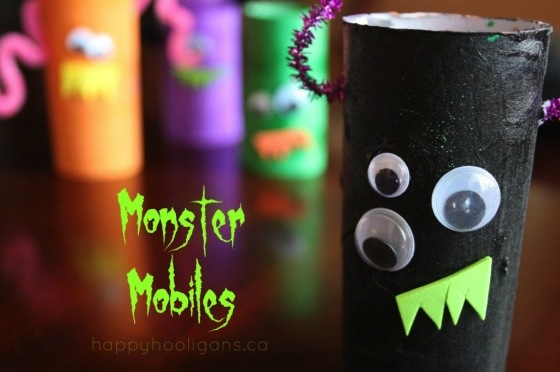 Monster Mobiles | 25+ Halloween crafts for kids