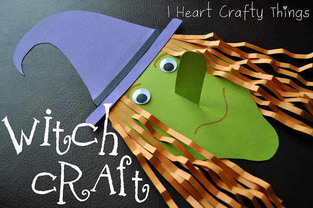 Paper witch | 25+ Halloween crafts for kids width=