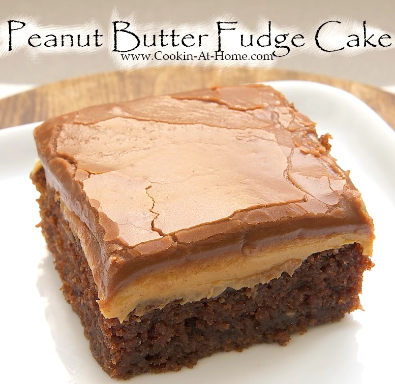 Peanut Butter Fudge Cake | 25+ peanut butter and chocolate desserts