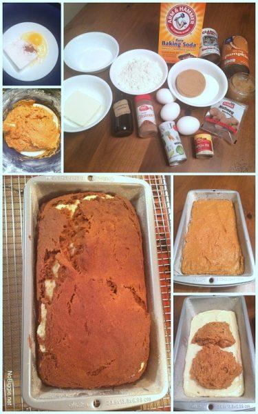 Pumpkin bread with spiced cream cheese swirl | NoBiggie.net